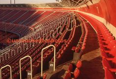Candlestick Park Red Chairs by untouchedtcphotos on Etsy