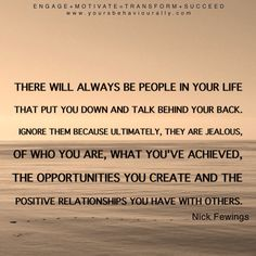 There will always be people...