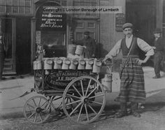 Milkman With Cart, Chester Street, Lambeth now Chester Way 1900