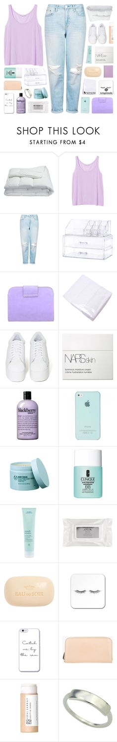 """SHOW ME DISTRACTION ♡"" by feels-like-snow-in-september ❤ liked on Polyvore featuring Frette, Monki, Topshop, Jeffrey Campbell, NARS Cosmetics, philosophy, The Body Shop, Clinique, Aveda and Stila"
