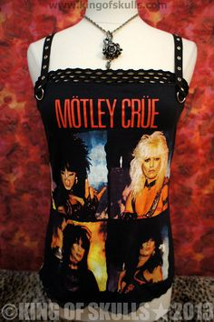 Motley Crue DIY Tank Top M 80s Glam Hair Heavy by kingofskulls