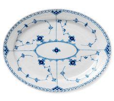 Royal Copenhagen Blue Fluted Half Lace Dish, 36,5 cm