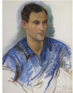 Portrait of Prince Vsevolod Obolensky, 1936 - Zinaida Serebriakova