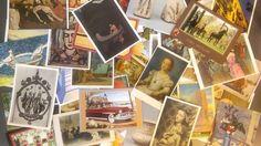 Lot of 75 Vintage Postcards --  fine art, modern art, religious, travel, B & W
