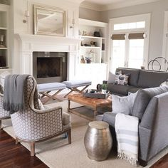 *french door and trim Caitlin Creer Interiors on Instagram | Living Room