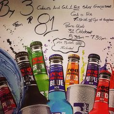 We will be having a Red Square Bucket Promo with prizes to be won on Saturday the 31st of October...See you there!!
