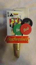 Bud Vegas Poker Chips & Card Beer tap Handle VISIT MY STORE Las Budweiser Casino