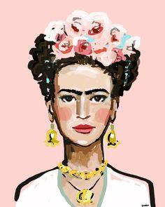 Frida Kahlo Print, roses, 8 x 10, 12x15, 16x20, 24 x 30, 30 x 40 by DevinePaintings on Etsy https://www.etsy.com/listing/235160445/frida-kahlo-print-roses-8-x-10-12x15