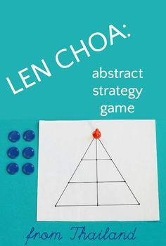 Good beginning abstract strategy games for kids to play. Len Choa, a traditional leopard hunt game is from Thailand.