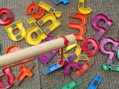 magnetic letter games:  fishing for letters