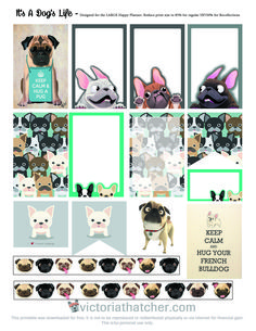 Free Printable It's a Dogs Life Planner Stickers | Victoria Thatcher