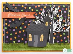 Trick or Treat Halloween card for family, friends, or teachers by @reneezwirek using the Boo! collection by @pebblesinc #sponsored