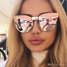 24a31d4af40  sunglasses 2017 Hot Sell Fashion Medusa Sunglasses Women Brand Eyewear  Travel Rose Pink Lady Sunglasses