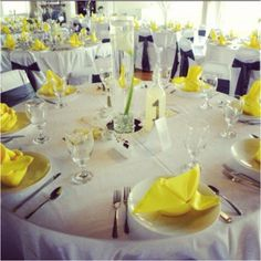End result of my mom's great wedding planning skills... My #yellow & #grey wedding reception was BEAUTIFUL!