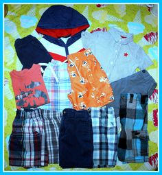 EUC INFANT BOYS LOT OF 12 SUMMER CLOTHING ITEMS 24 MONTHS VARIETY OF BRANDS   eBay