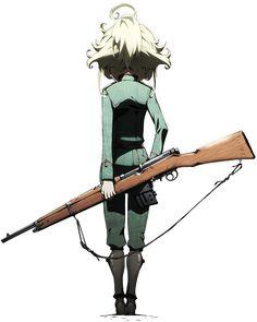 TVアニメ「幼女戦記」公式サイト イラスト 漫画 manga 後ろ姿