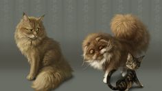 Online digital art gallery of best pictures and photos from portfolios of digital artists. Manually processing and aggregation artworks into the thematic digital art galleries. Three Cool Cats, Cute Cat Drawing, Digital Art Gallery, Funny Wallpapers, Cat Design, Cat Art, Animal Pictures, Comic Art, Illustration Art