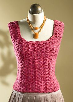 Ravelry: Tank Top With Shell Stitch pattern by Susan Brittain