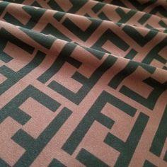 9d3727888 Spandex Fabric, Fendi Brown Black FF Designer Inspired Fabric, 4Way Stretch  Lycra Knit Spandex By The Half Yard or Yard 58