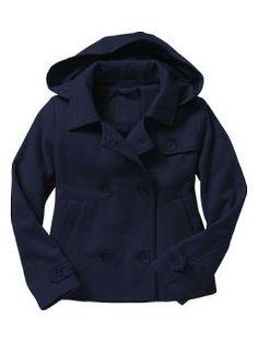 Uniform hooded fleece coat...greaat for school