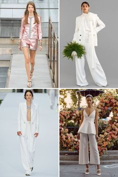 These Are the Top 20 Bridal Trends for 2020 Weddings Wedding Trends, Wedding Designs, Wedding Styles, True Bride, Popular Wedding Colors, Dusty Rose Color, Sleek Hairstyles, Bohemian Bride, Shades Of Purple