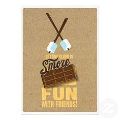 Kids Sweet Birthday Bonfire Smores Invitations