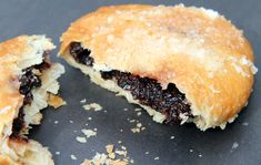 Eccles cake. This is the only Eccles recipe you'll ever need and I consider myself something of a connoisseur! My father loved an Eccles cake (clearly where I get my sweet tooth) and one of my earliest memories is of him crumbling off a small edge and handing it to me like a tiny pastry and raisin parcel! I've no idea where he bought them from, but they were the best I've ever tasted. Even if it might be an element of childish nostalgia, I definitely remember what made them so good.
