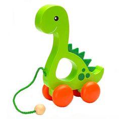 Dinosaur Pull Toy with Fleece Blanket | Madison-Drake Children's ...