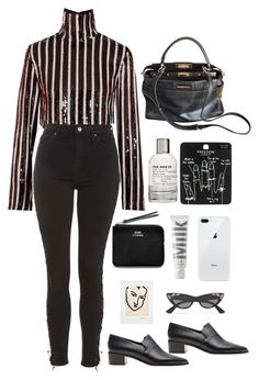 """""""January 1st"""" by millicent4 ❤ liked on Polyvore featuring MSGM, Topshop, Fendi, Acne Studios, MILK MAKEUP, Le Labo and Gucci"""