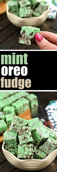 Deliciously easy Mint Chocolate Oreo Fudge recipe is the perfect addition to your dessert menu! #cookiesandcream #fudge #candy #christmascandy #stpatricksday