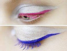 Dior Fall – Winter 2012 Makeup Trends, silver eyeshadow, colorful eyeliner and lashes