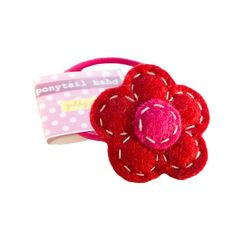 Clothing | VIVAIODAYS Giddy Giddy PONYTAIL ELASTIC HAIR BAND - RED FLOWER $8.00