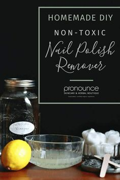 DIY Non-Toxic Nail Polish Remover • If you've switched to non-toxic nail polish, it only makes sense to DIY non-toxic nail polish remover, and you can with these common household items. pronounceskincare.com