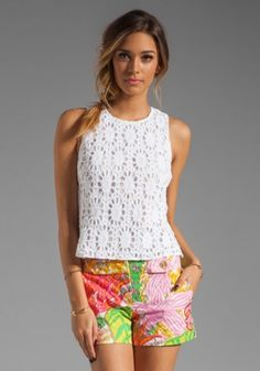 $198 Trina Turk Ray Bay crochet top