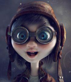 Avia girl by ins | Cartoon | 3D | CGSociety