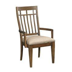 Surrey Arm Chair in Linen-Sesame - Kincaid Furniture