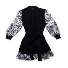 Belted Cardigan Black now featured on Fab. so great for summer! Linene and air soft sleeves and check out chic hem :)