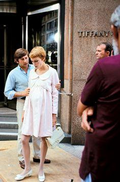 Roman Polanski and mia Farrow on the set of Rosemary's Baby