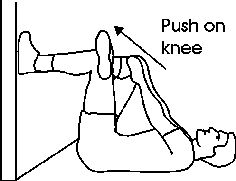 Piriformis Stretches - Wall Hip Stretch