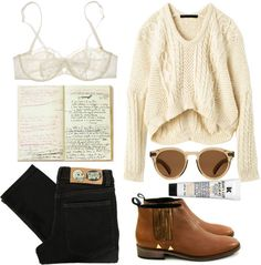 weekend style. (Cheap Monday black jeans / Nina Ricci / New Kid leather boots / Illesteva Leonard 2 Sunglasses / Kiehl's kiehl s)