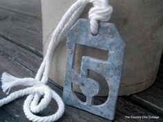 Ballard Designs Knock Off Numbered Tags -- faux metallic that ANYONE can do #psimadethis