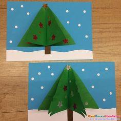 Yeni yıl kartı yapımı üç boyutlu - OKUL ÖNCESİ ETKİNLİKLERİ - Hayallerinizi Sınırlamayın Work Activities, Infant Activities, Origami, Christmas Crafts, Kindergarten, Education, Cards, Infant Crafts, Winter