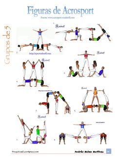 Pirámides/Figuras de Acrosport por número de componentes y niveles Gymnastics Stunts, Gymnastics Lessons, Cheerleading, Acrobatic Gymnastics, Cheer Stunts, Gymnastics Pictures, Poses Gimnásticas, Acro Yoga Poses, Couple Yoga