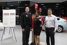 Alex Ornelas, Sebrina Rodriguez, Joe Dominguez. TOPA Staff of our New Car Owner Events