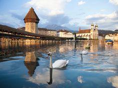 Kapellbrücke und Wasserturm in Luzern