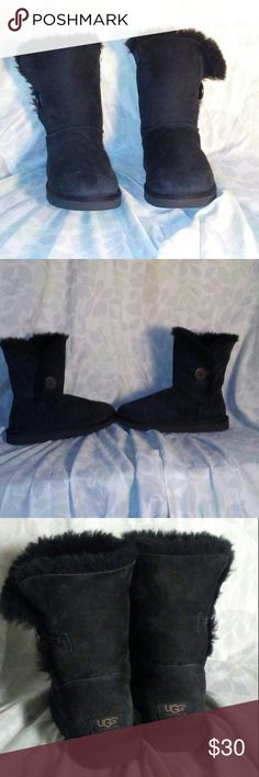 UGG bailey button boots Some wear due to use. Good condition UGG Shoes Winter & Rain Boots