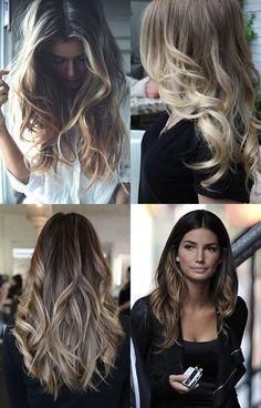 pretty hair ideas, ombre, brunette