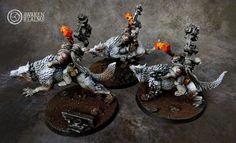 Space Wolves Iron Priests on Thunderwolves