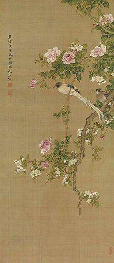 Shen Nanpin  Flowers and Birds  1750