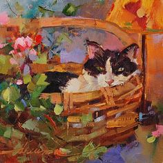 """Dreama Tolle Perry   OIL   """"Basket Case"""""""
